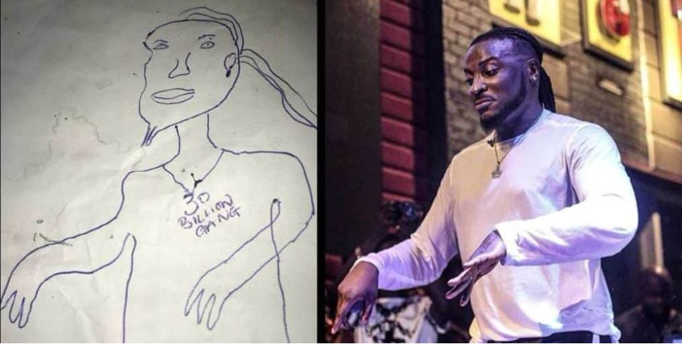 Peruzzi Reacts To A Fan's Sketch Of Him