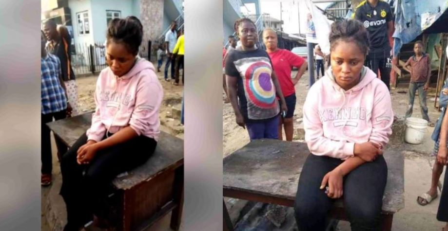 Young lady reportedly runs mad after being dropped from car in Delta