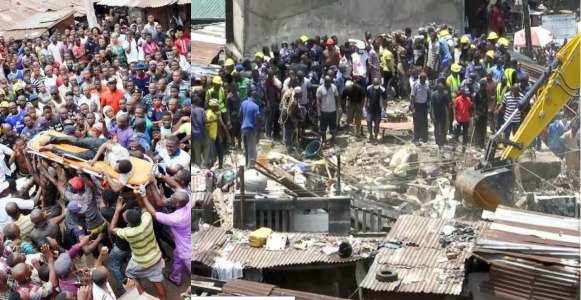 Some photos from the rescue operation at the scene of the Lagos school building collapse