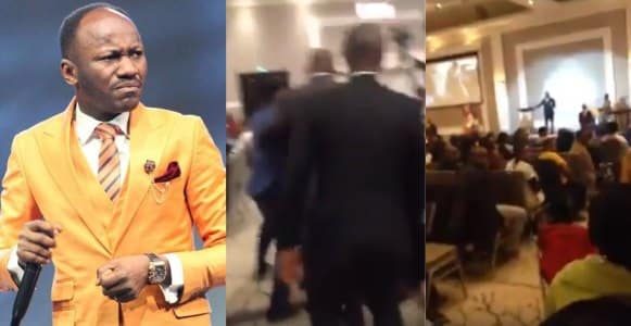 Man calls Apostle Johnson Suleiman names as he preaches in a church in Canada (Video)