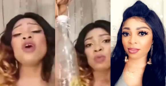 Nigerian lady who is paid to lock men in bottles urges women to lock their irresponsible husbands inside bottles