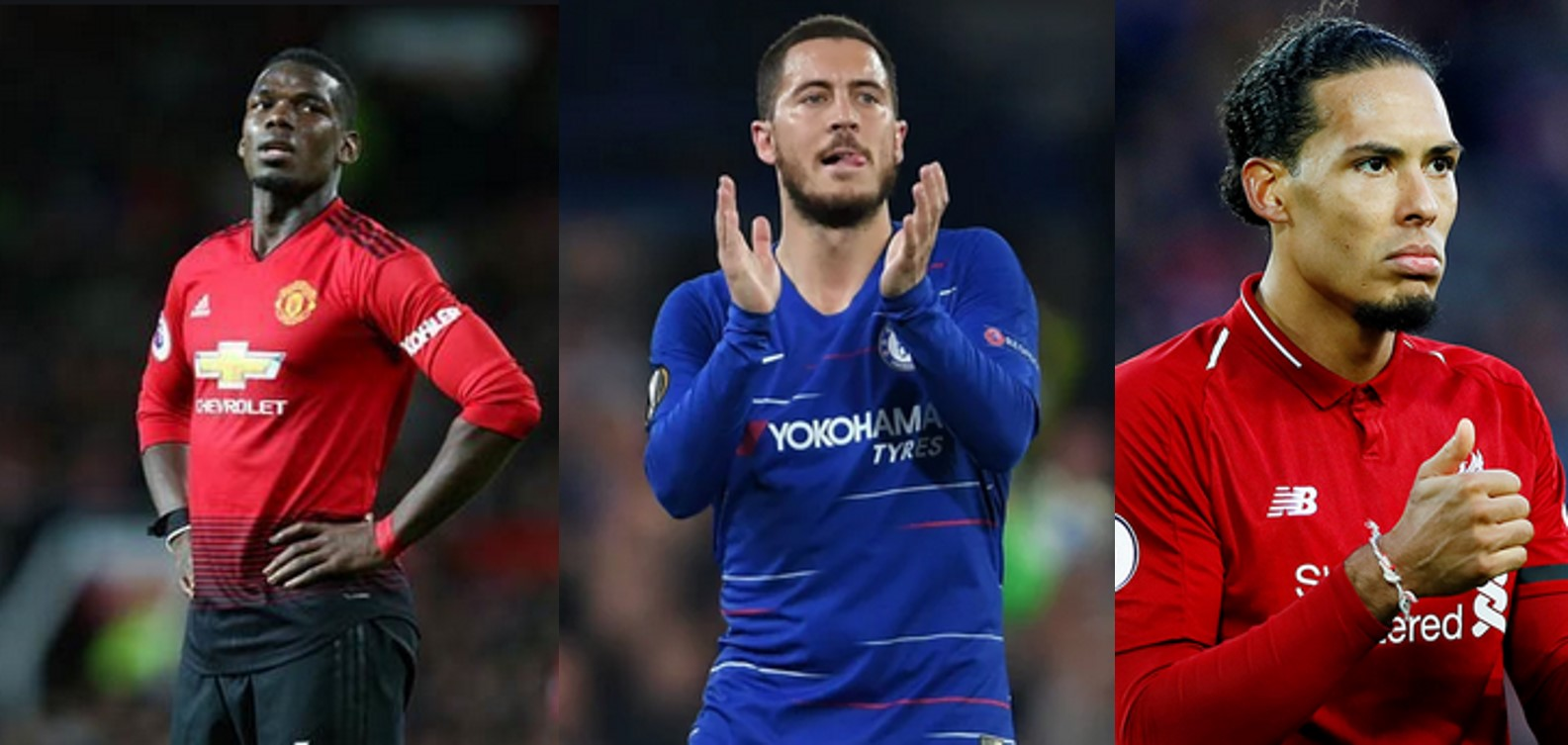 Football fans react as Pogba made Professional Footballers' Association's team of the year, Hazard omitted