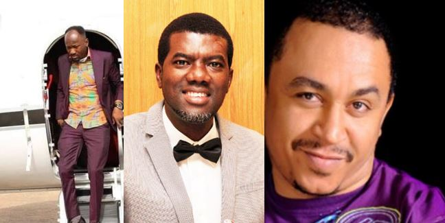 Reno Omokri replies Daddy Freeze for calling out Apostle Suleiman for buying a private jet