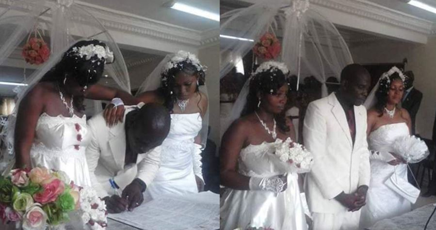 Man weds two wives the same day in a white wedding ceremony