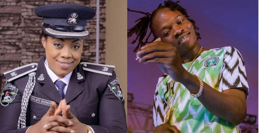 Police PRO, CSP Dolapo Badmus shades Nairamarley following his arrest by the EFCC