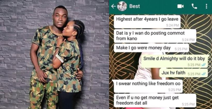 Heartbreaking final chats between a Nigerian soldier and his wife before he was killed by Boko Haram