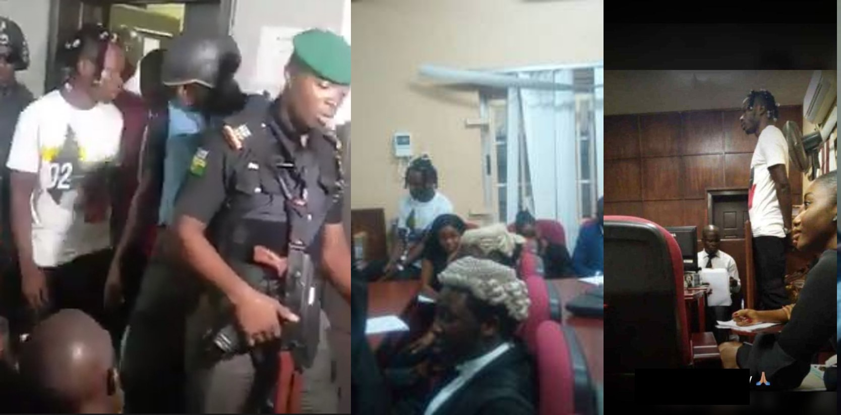 More photos and video of Naira Marley in Federal High Court, Ikoyi