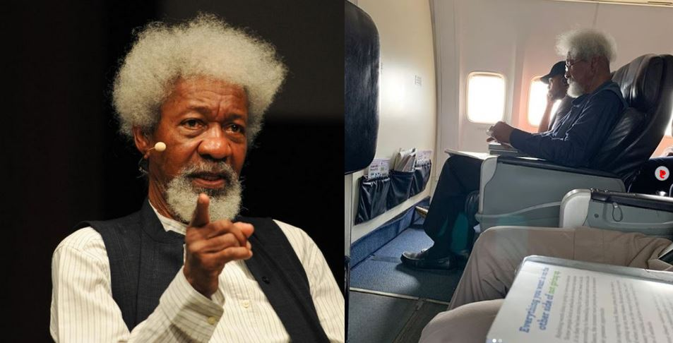 Young Nigerian man orders Professor Wole Soyinka out of his seat on a flight