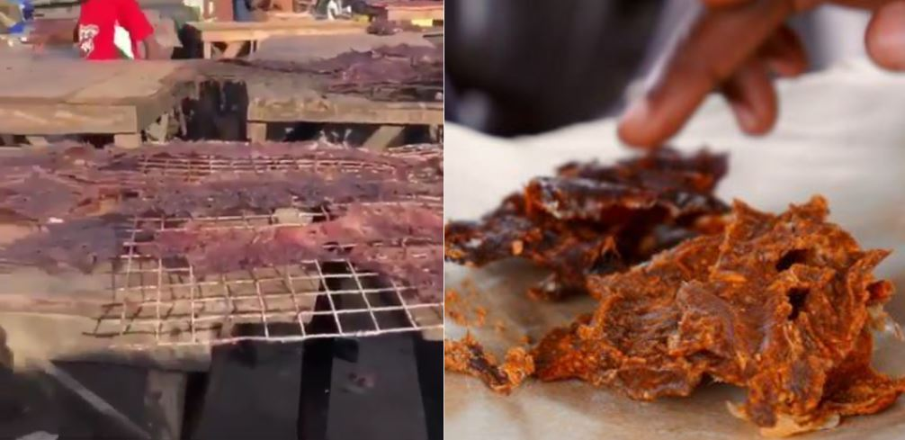 Nigerian Woman Shocked After Seeing How 'Kilishi' Is Being Made (Video)