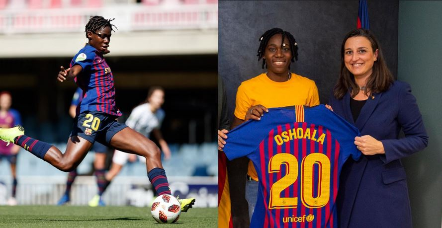 Asisat Oshoala seals permanent deal with Barcelona till 2022, La Liga announces deal in Pidgin English