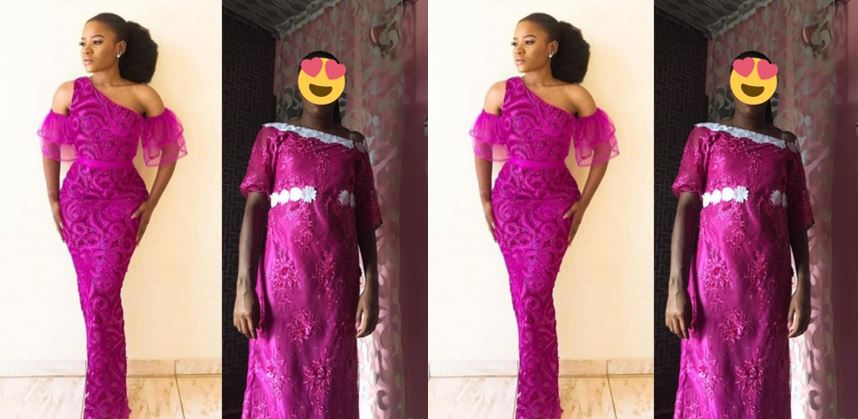 Nigerian lady shares photo of what her friend asked for and what the tailor made