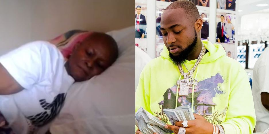 Woman suffering from cancer makes a wish to see Davido, he replies