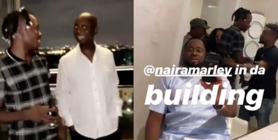 Naira Marley Mobbed By Nollywood Actors As He Visits Regina Daniels On Movie Set