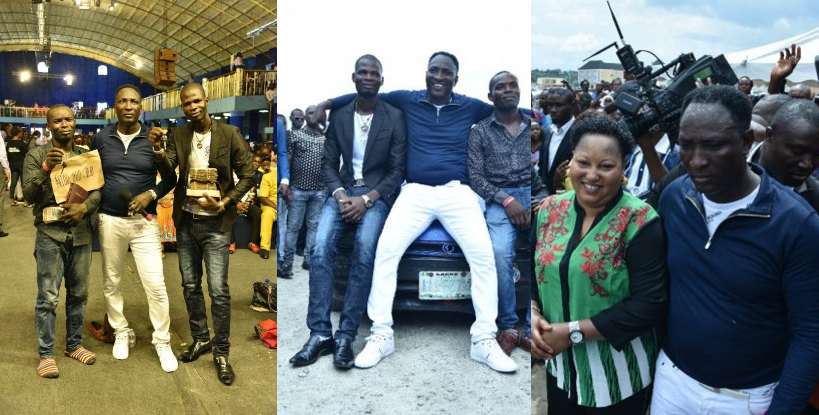 Prophet Jeremiah Omoto Fufeyin blesses two people with two cars valued at #5,000,000 (Photos)