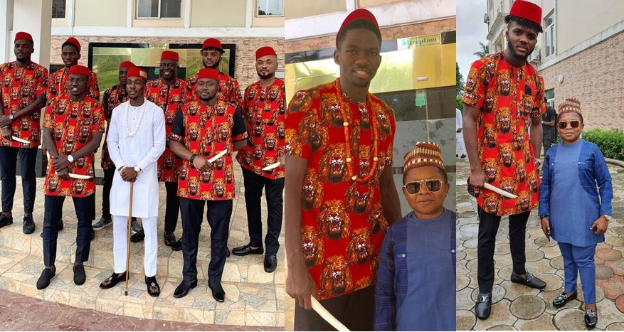 Super Eagles players storm Benin as Henry Onyekuru weds his fiancee (Photos)