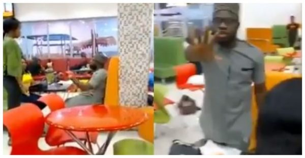Nigerian Lady refuses to calm down in an eatery after her boyfriend of 5 years ended their relationship (Video)