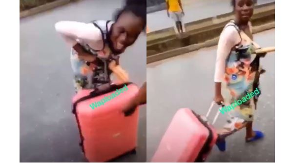 Girl allegedly runs mad in Benin after being dropped by a Benz (Video)