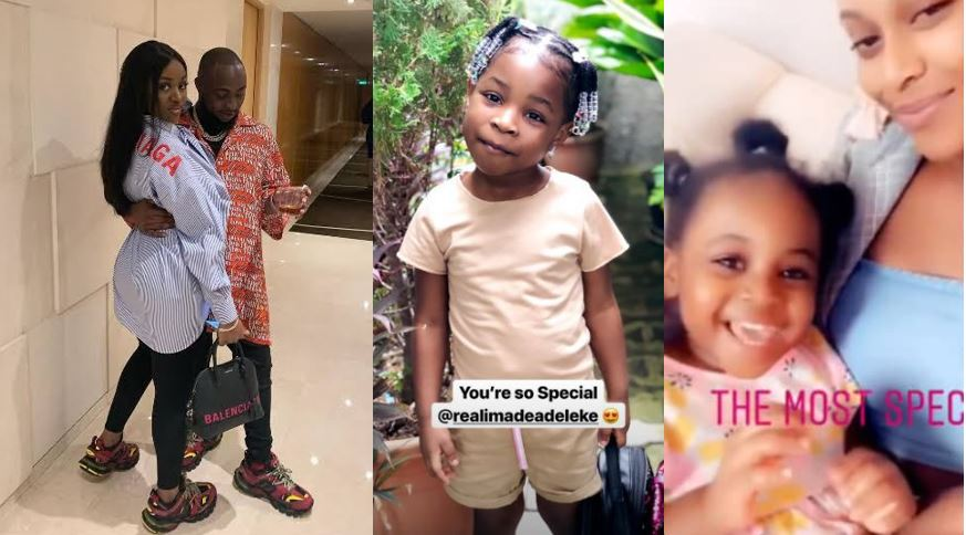 Davido's babymamas react to Chioma's 'special baby' statement made by Davido (Photos)