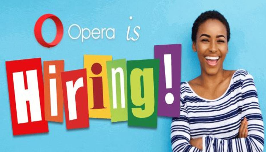 Opera is hiring in Nigeria, 8 positions available with salaries between N75,000 to N300,000 per month