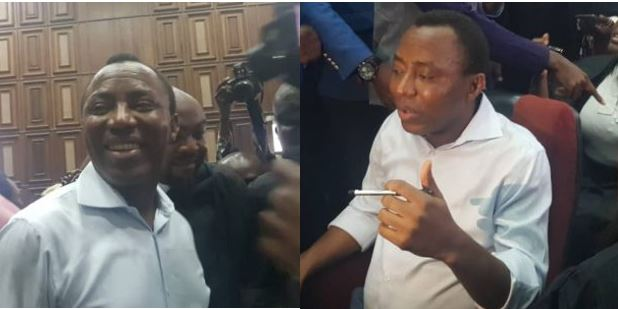 First photos of Sowore since his arrest in August 3rd, arraigned in court today for treason