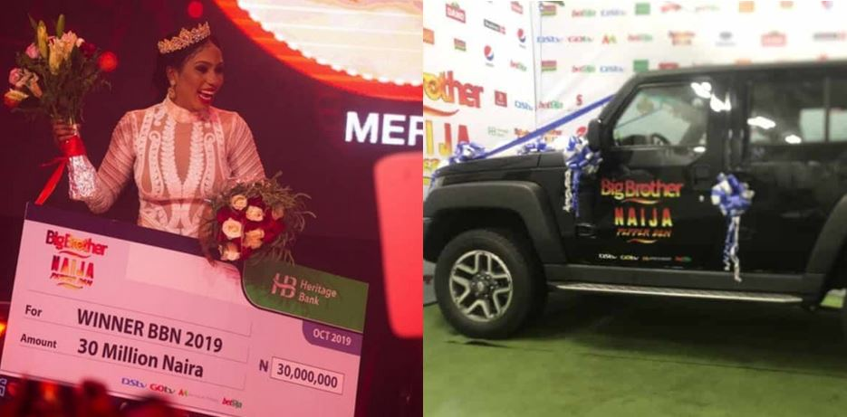 Photos of the N25 million Innoson SUV given to Mercy by BBNaija