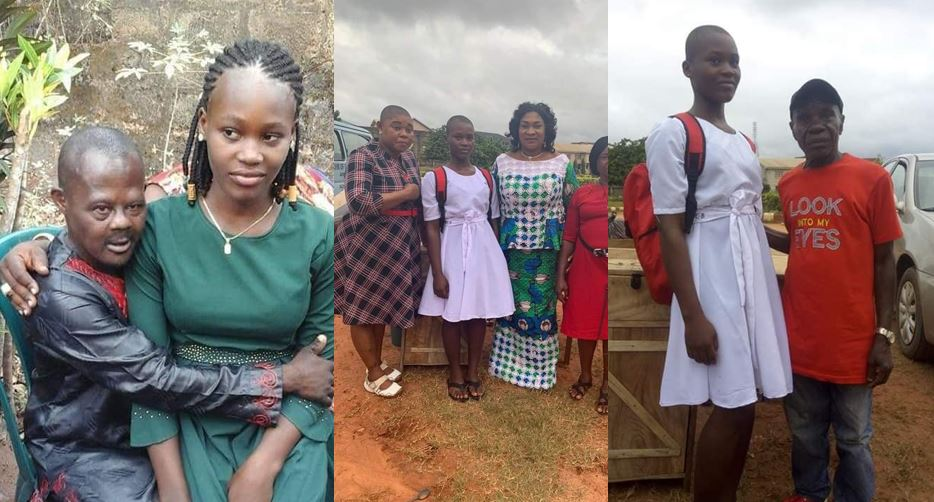 Update: Remember the child bride in Anambra who was married off to a mentally challenged man? She has returned to school (photos)