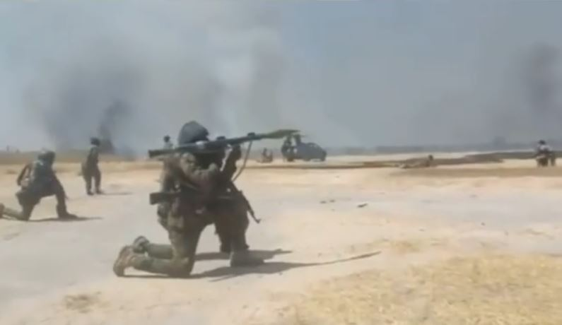 Nigerian soldier shares video from fight they had with Boko Haram yesterday (Video)