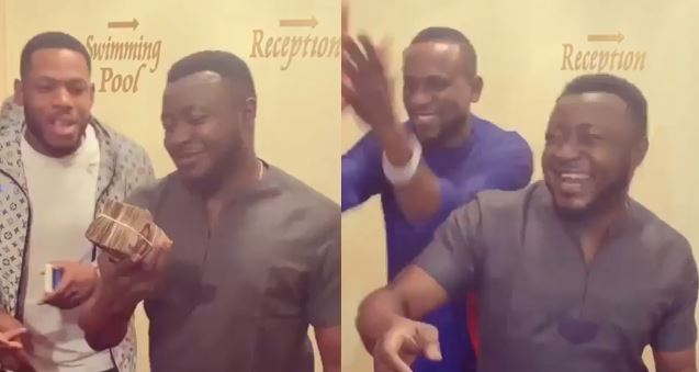MC Galaxy gives Frodd and Omashola N500k and N300k respectively (video)