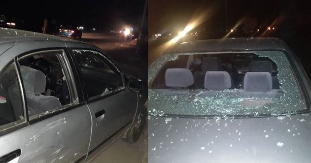 Nigerian lady narrates how she was allegedly beaten to stupor and her car damaged by policeman because she honked at him (photos)