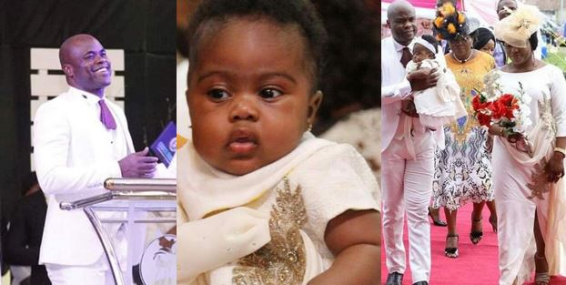 Former Reverend Father in Uyo, Edet Dedicates His Child (photos)
