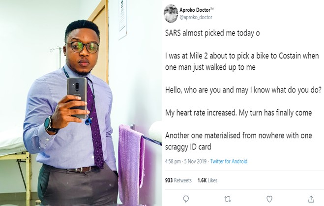 Doctor narrates story of SARS officers accosting him in Lagos