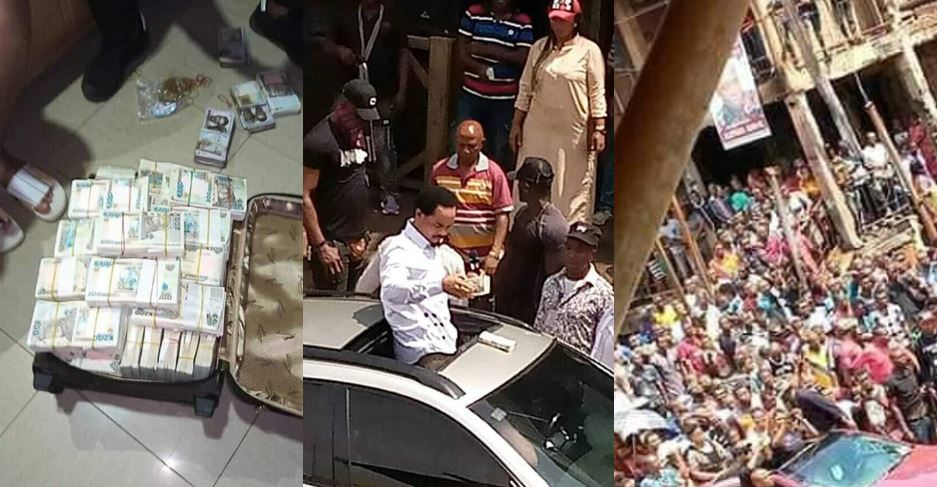 Photos of Pastor Odumeje distributing N4 million to Ochanja Market fire victims as promised