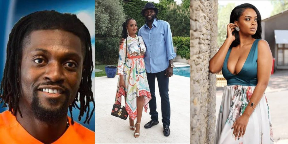 Emmanuel Adebayor tells fan that he and Big Brother Africa's Dillish have split