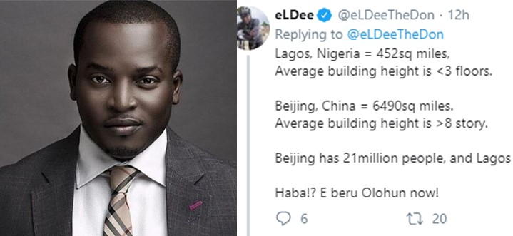 Eldee uses math to 'prove' that Nigeria's population is not 190 million