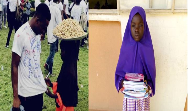 Young groundnut seller who signed on a graduate's shirt gets admission
