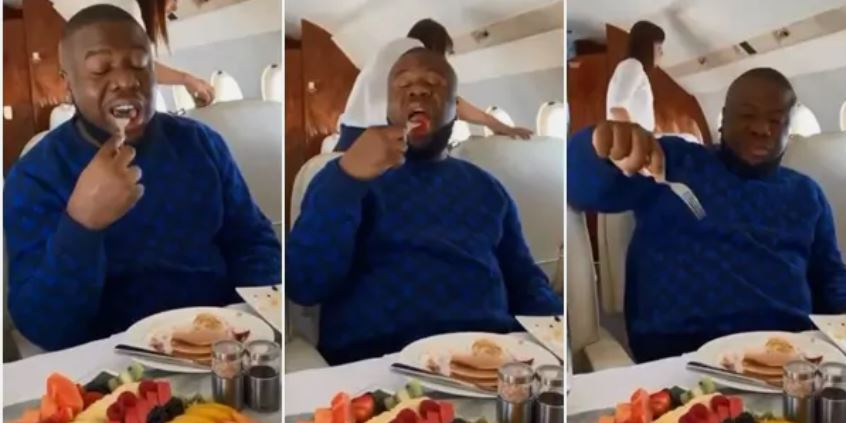 'I cant kill myself'- Hushpuppi, as he dines in first class