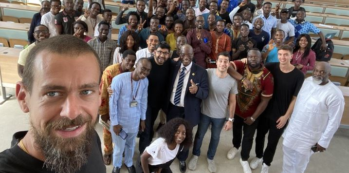Pictures of twitter CEO, Jack Dorsey at UNILAG