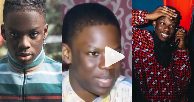 Video of younger 'hustling' Rema before he met Don Jazzy