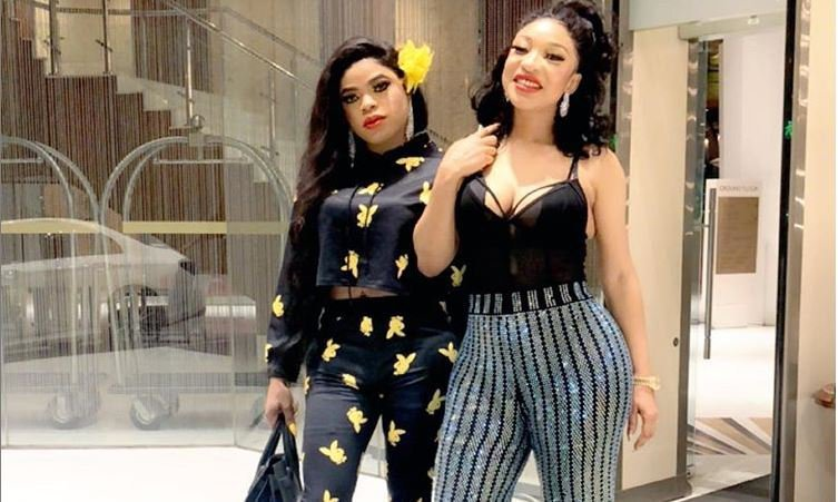 Tonto  Dikeh twerks in car for excited Bobrisky (SEE VIDEO)