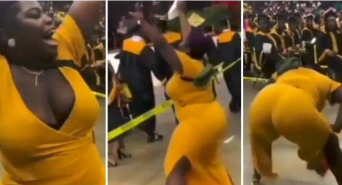 Mother joyfully twerks up a storm to celebrate her son's graduation (Video)