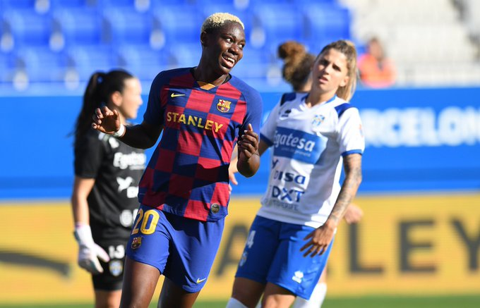 Barcelona star Asisat Oshoala, says Nigeria hosting next CAF tournament is a good move