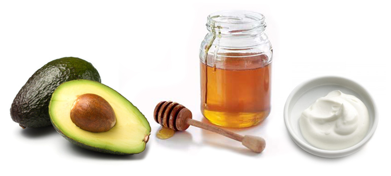 Avocado face mask, for acne treatment and glowing skin