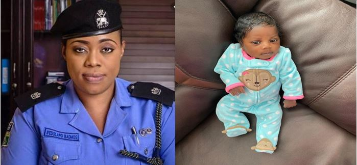 Celebrity  police officer, Dolapo Badmus welcomes baby girl