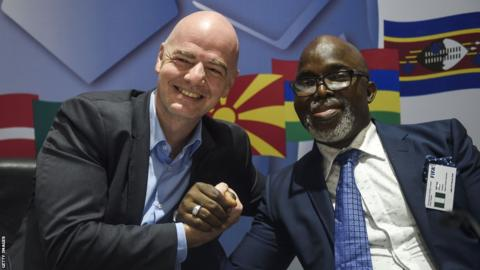 FIFA president sends adorable 49th birthday message to friend, Amaju Pinnick