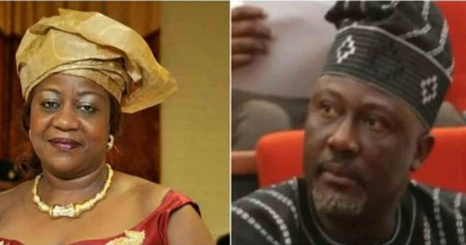 Never jump out of a moving vehicle – Lauretta Onochie mocks Dino Melaye over loss of senate seat