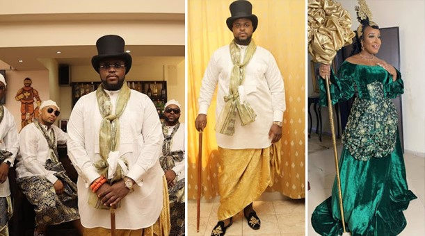 See beautiful photos from Davido's brother Adewale's traditional wedding