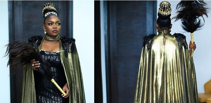 See Bisola's African Royalty look at Google's 'Coming to America' Christmas party (Photos)