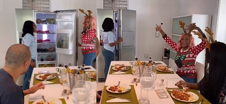 Video: DJ Cuppy surprises her manager by putting N500k in her fridge as Christmas gift