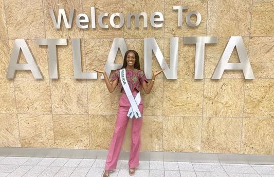 MBGN Universe 2019, Olutosin Araromi arrives Tyler Perry Studios for Miss Universe pageant (PHOTOS)