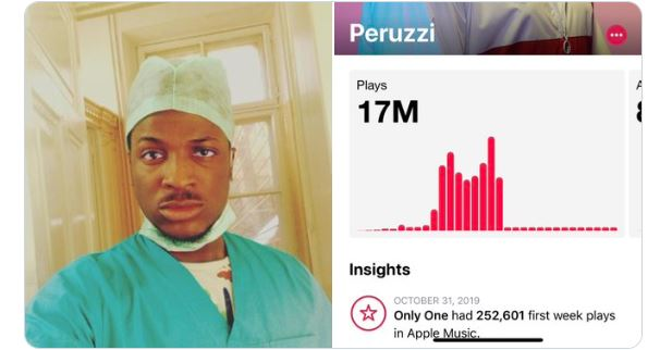 """Peruzzi replies follower who said """"school is a scam"""" because he ended up as a musician after studying to be a medical doctor"""